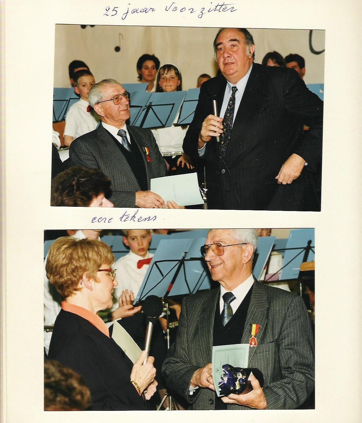 August Vandermosten 25 jaar voorzitter